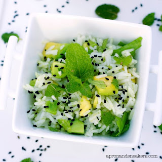 Jasmine Rice with Avocado, Mint & Black Sesame Seeds Recipe