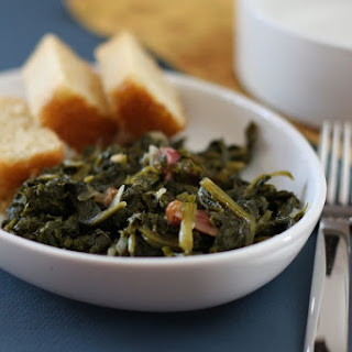 Mustard Greens With Ham.
