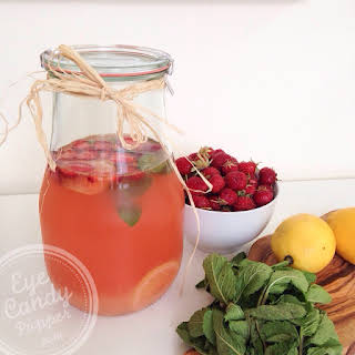 Strawberry-mint Lemonade (vegan, No Refined Sugar).