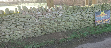 Mendip stone wall repair