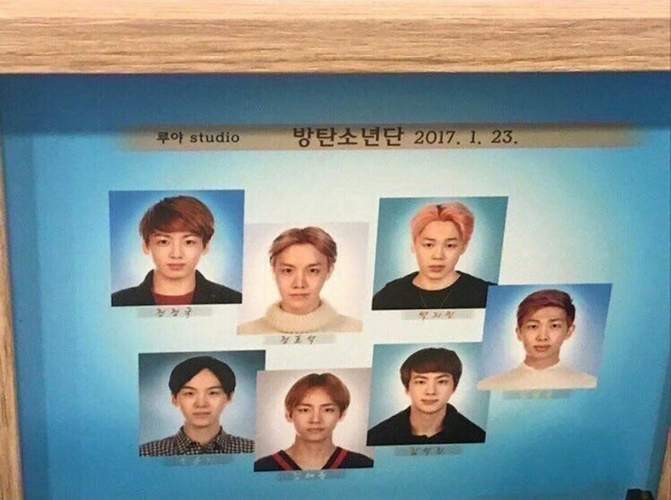 bts passport photos 2017