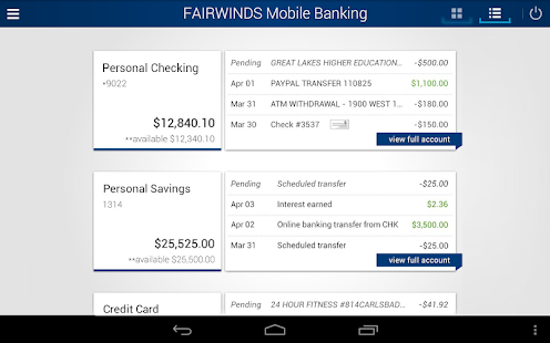 FAIRWINDS Mobile Banking- screenshot thumbnail