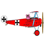 Pink Baron, Pig fly Fokker Icon