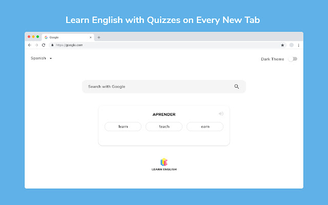 Learn English on Every New Tab