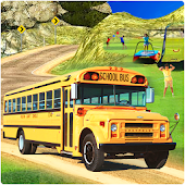 Modern School Bus Driving 3D Simulator