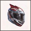 焔のヘルメット