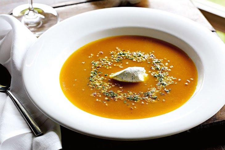 Roasted Pumpkin and Ginger Soup Recipe
