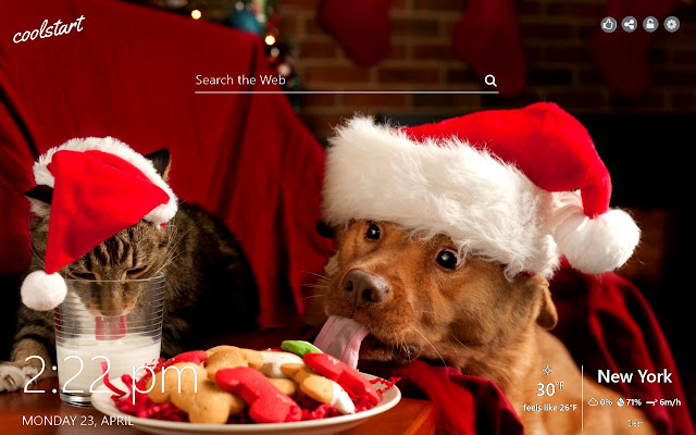 Christmas Kittens and Puppies HD Wallpapers