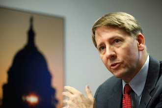 Photo: Consumer Financial Protection Bureau (CFPB) Director Richard Cordray answers questions at the Reuters Washington Summit in Washington, October 23, 2013.   REUTERS/Jonathan Ernst    (UNITED STATES - Tags: POLITICS BUSINESS) - RTX14LOA
