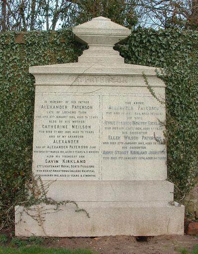Gavin Kirkland Paterson grave