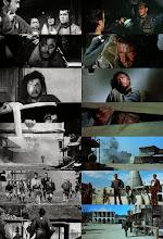 """Photo: Mais fotogramas mostrando a comparação quase que quadro a quadro entre """"Yojimbo"""" e o filme de Leone."""