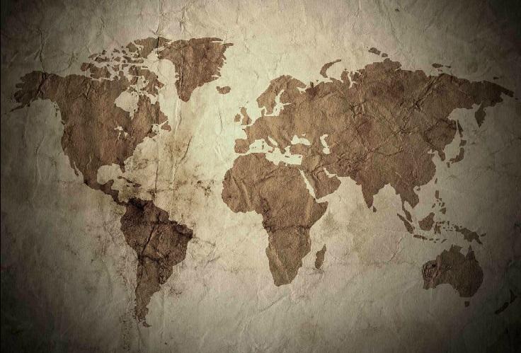 """Um mundo de terras e mares a serem conquistados pela vastidão da """"eternidade"""". Imagem: Daniel Apolinário: http://2016.mezclador.com.br/daniel-apolinario/."""