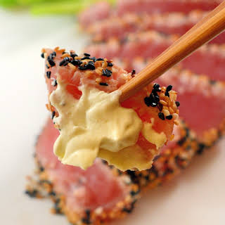 Sesame Crusted Tuna with Wasabi Whipped Cream.