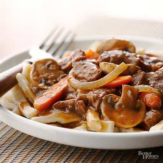 Simple Beef and Noodles.