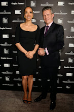 """Photo: Carmen Chaplin and Jaeger-LeCoultre CEO Daniel Riedo.   """"Chaplin Forever!"""" is on display at the Film Society of Lincoln Center from April 25th to May 4th, 2014.   Read more at: http://bit.ly/1k90nlv"""