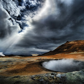 The World's end by Alberto Ghizzi Panizza - Landscapes Travel ( clouds, geyser, iceland, volcano, hdr, lava, cloudy, flare, hole,  )