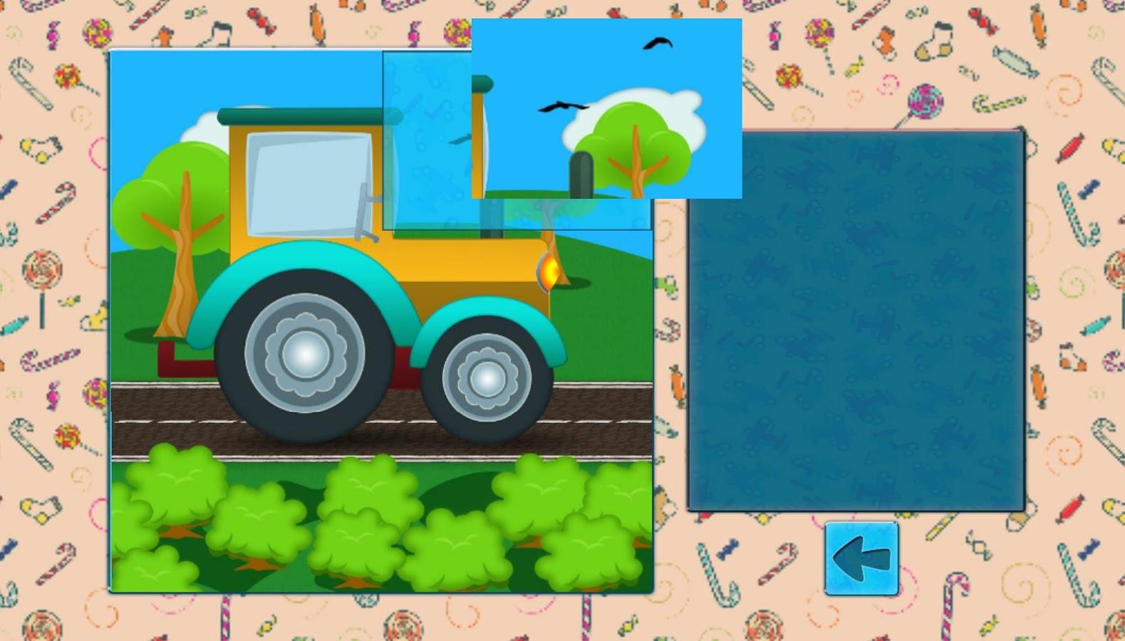 car puzzles for kids screenshot