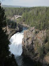 Photo: Upper Yellowstone Falls (Artist Point Drive bridge in background)