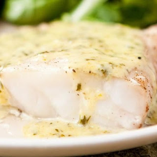 Grouper with Lemon-Basil Cream Sauce.