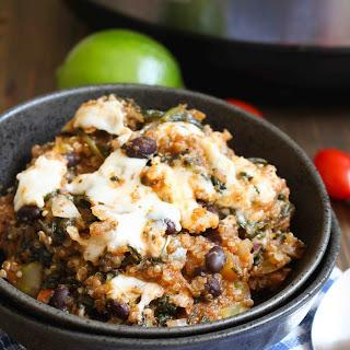 Slow Cooker Quinoa Enchilada Casserole.
