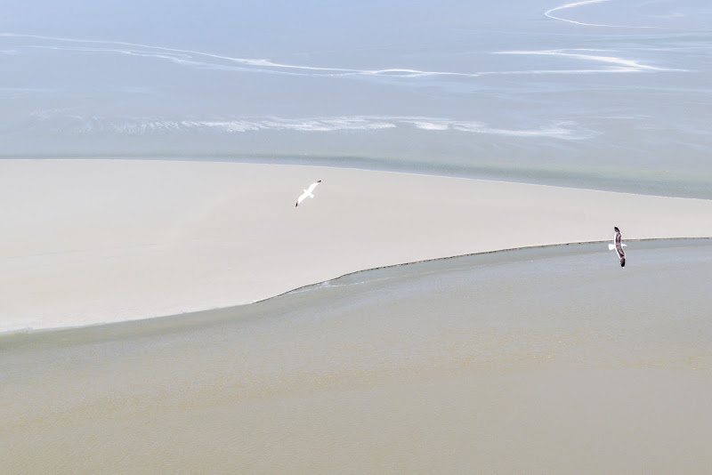 In volo sulla baia di Mont St Michel di Nefthi_M