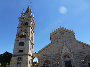"""Photo: Messina Duomo and the """"animated"""" clock tower"""