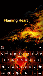 Flaming Heart Kika Keyboard - náhled