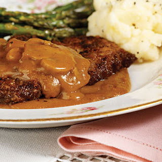 Baked Steak with Gravy Recipe