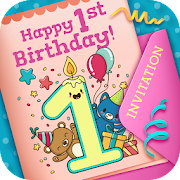 First Birthday Invitation Cards App Report On Mobile Action