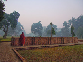 Photo: The Buddha's walking meditation path