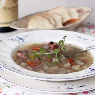 Fresh Borlotti Bean Blizzard Soup