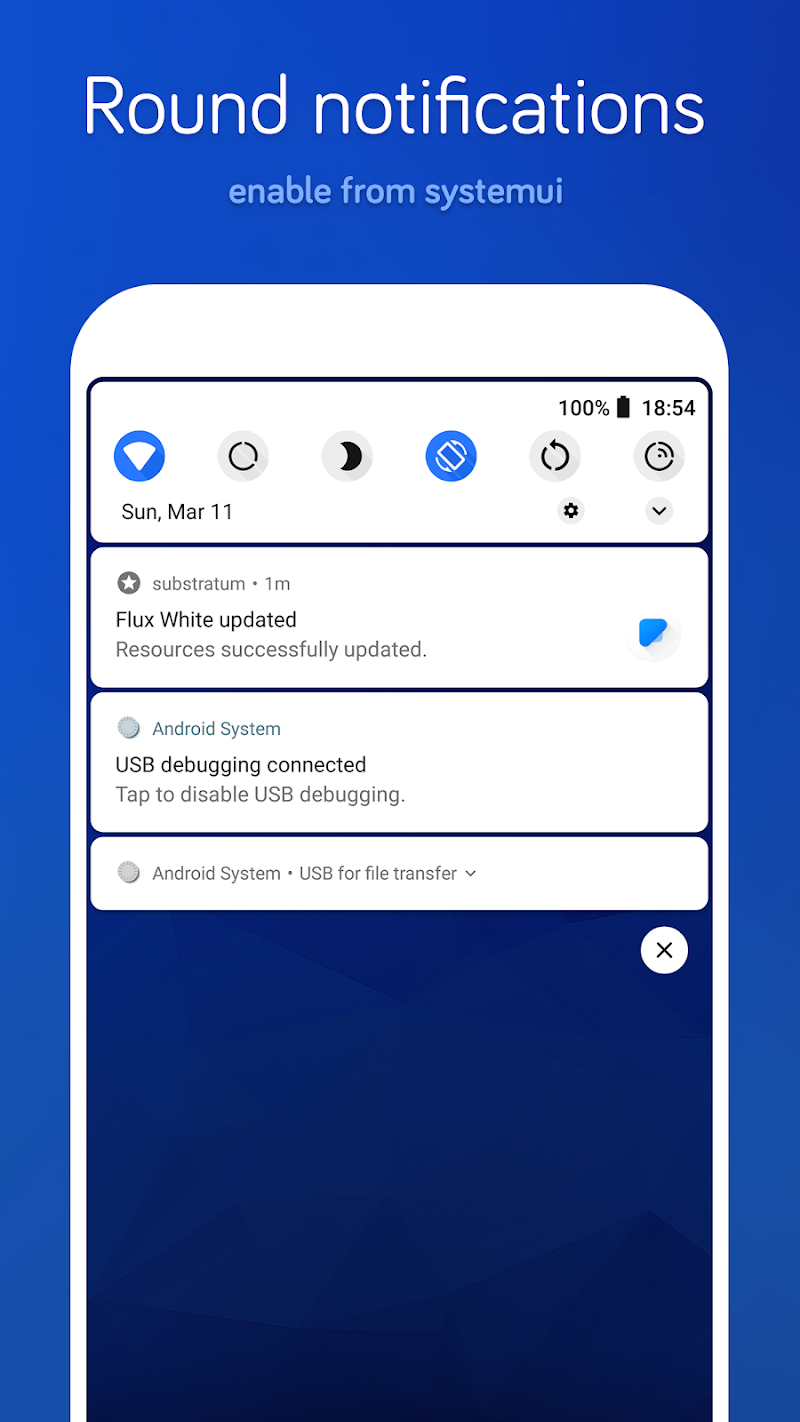Flux White - Substratum Theme Screenshot 6