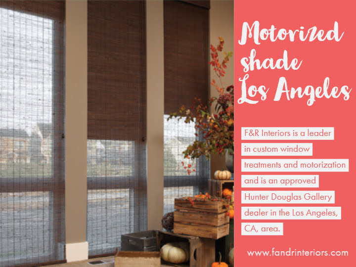 Motorized shade in Los Angeles