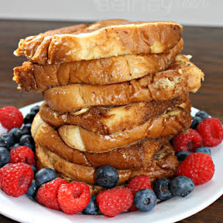 Deliciously Simple French Toast [made with Almondmilk].