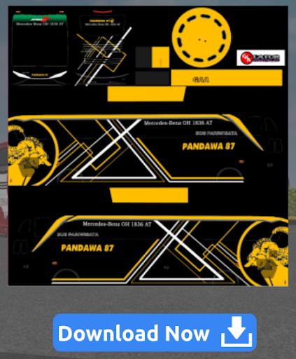Livery Bussid SHD Pandawa 5.0 screenshots 3