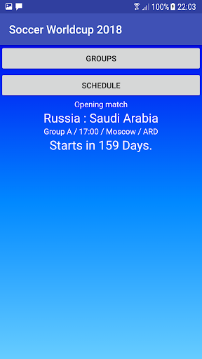 Football World Cup 2018 in Russia, Schedule  screenshots 1
