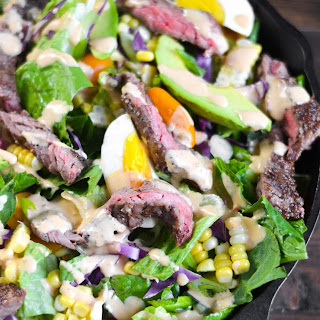 Southwest Steak Salad with Chipotle Ranch.