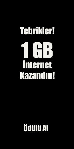 1 GB Hediye İnternet Kazandıran Uygulama - Yarışma for PC