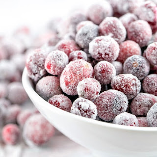 Sugared Cranberries.