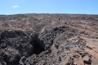 Photo: We pass an enormous partially collapsed lava tube
