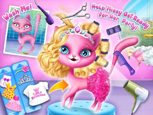 Cat Hair Salon Birthday Party - Virtual Kitty Care 6.0.20 screenshots 12