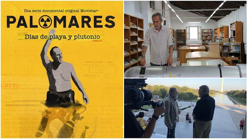 Cartel de la serie y dos fotogramas; en uno puede verse al almeriense José Herrera, uno de los grandes expertos en la materia. Foto: Movistar.