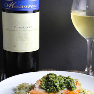 Orzo, Salmon and Pesto