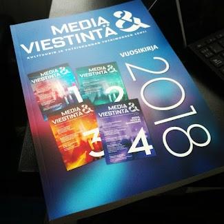 Vuosikirja sisältää vuonna 2019 Media & viestintä -lehdessä julkaistut, verkossa avoimesti saatavilla olevat artikkelit. Vuosikirja postitetaan niille Mevi ry:n jäsenille, jotka ilmaisevat alla sen haluavansa. Vuosikirjaformaattia uudistetaan vuonna 2020.