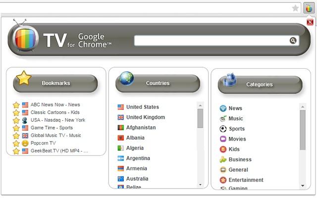 TV for Google Chrome™
