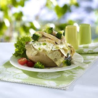 Potato Stuffed with Chicken and Broccoli.