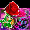 Wonderful Flowers Roses Animated images Gif icon