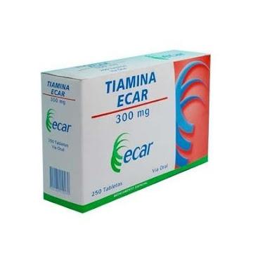TIAMINA ECAR 300MG   TABLETAS CAJA X250TAB.