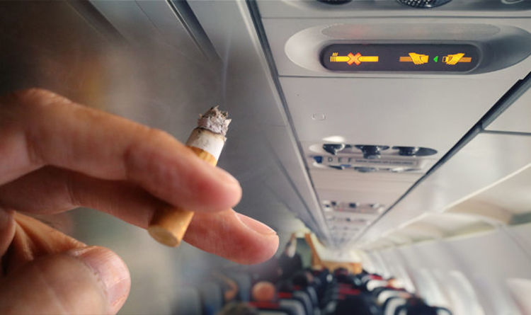 airplane smoking
