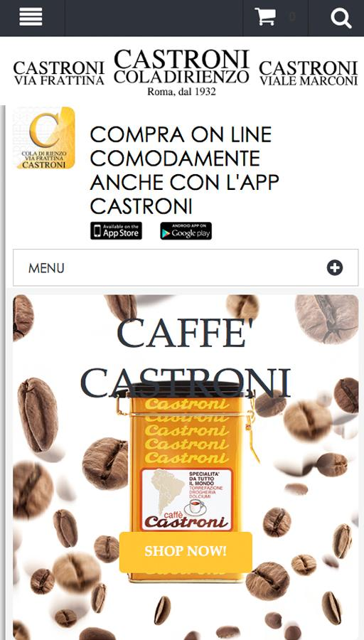 Castroni Shop Online- screenshot